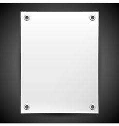 Blank white banner painted in the vector image