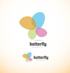 Butterfly spa beauty logo vector image