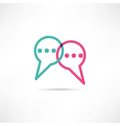 Chat concept icon vector image vector image