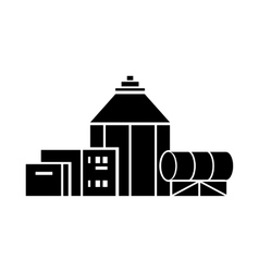 Chemical hangar icon simple style vector