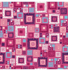Colorful geometric squares seamless pattern vector image vector image