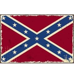 Confederate grunge flag vector