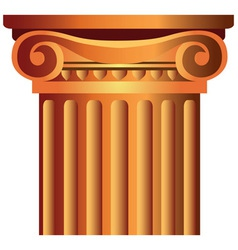 decorated column top capital vector image vector image
