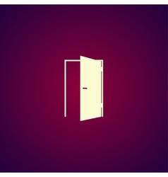 Door icon Flat design style vector image vector image