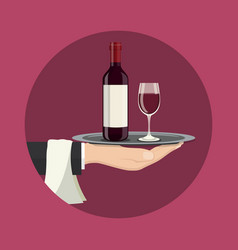 Drinks service icon vector