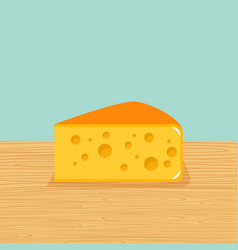 farm cheese on the table vector image vector image