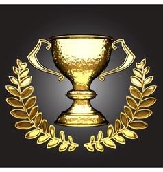 golden award vector image