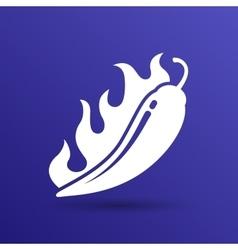 Hot chilli pepper logo vector