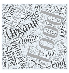 How to find an organic food delivery company word vector