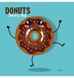 icon donut cream chocolate graphic vector image vector image