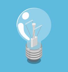 lightbulb isometric vector image