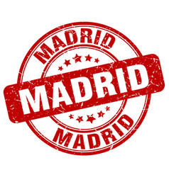 Madrid stamp vector