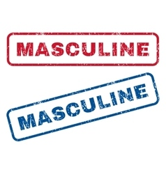 Masculine rubber stamps vector