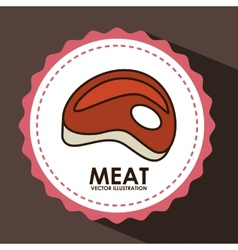 Meat icon vector