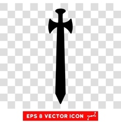 Medieval Sword Eps Icon vector image vector image