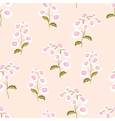 Nemesia flowers seamless pattern vector image vector image