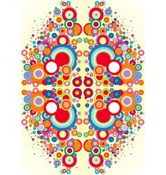 psychedelic circles vector image vector image