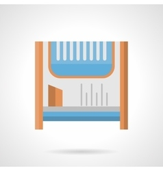 Room heater flat color icon vector image