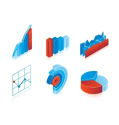 Set of 3d charts vector image vector image