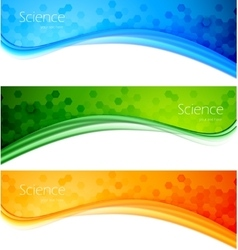 Set of banner vector