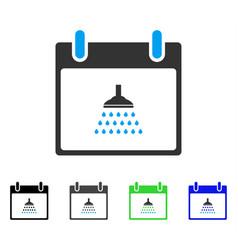 Shower calendar day flat icon vector