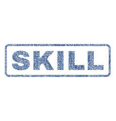 Skill textile stamp vector