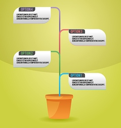 Tree Color Info Graphic Template vector image