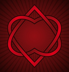 Two hearts linked vector