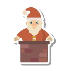 Santa claus christmas character isolated icon vector