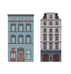 Beautiful detailed linear cityscape collection vector
