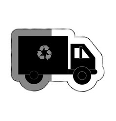 Recycle truck isolated icon vector