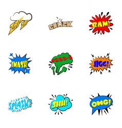 Dialog speech bubbles icons set cartoon style vector