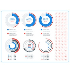 Abstract infographic design in flat style with vector