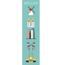 Set of barcelona symbols vector