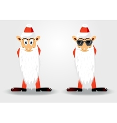 Cute santa claus with long beard vector