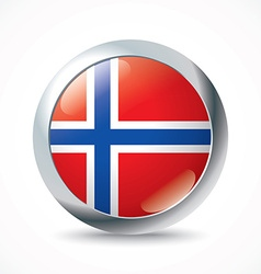 Svalbard flag button vector