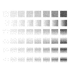 Set of 48 square stipple pattern for design tile vector