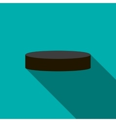 Hockey puck icon flat style vector