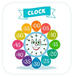 Clock sticker game for children vector