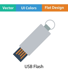 Usb flash icon vector
