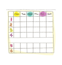 A daily schedule of hours vector