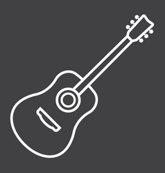 acoustic guitar line icon music and instrument vector image vector image