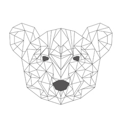 Bear head low poly isolated icon vector