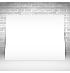Blank White Poster vector image vector image