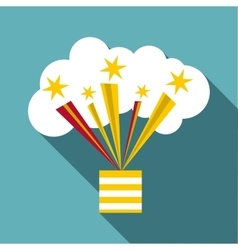 Bright firework icon flat style vector