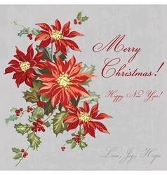 Christmas Retro Card - with place for your text vector image vector image
