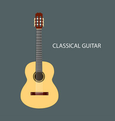 classical guitar isolated vector image vector image