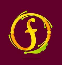 F letter monogram design elements vector image vector image