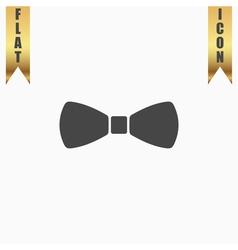 festive bow icon vector image vector image