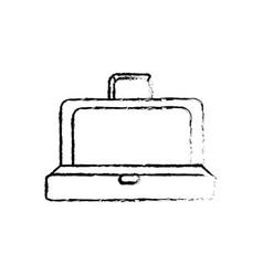 Figure elegant suitcase open vector